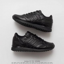 Af6296 Adidas ZX750 Whole Black Adidas ZX750 Collection Running Sports UNISEX Leather Upper