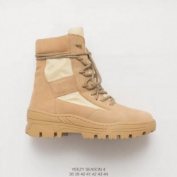 Yeezy season 4 combat boot kanye west tall boot km3605115-0009 highlights personality wear slip outsole mens