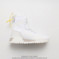 BY3007 New Colorway Adidas Originals Af 1.3 Primeknit Whole White All-match Knitting Jogging Shoes High 36 Sneaker Works Inspir