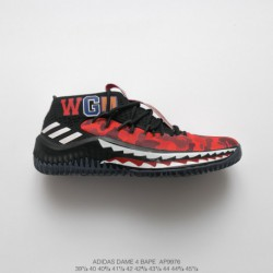 Cq0469 Year Of The Rat Limited Edition FSR Adidas D Lillard 4 Cny Lillard 4th Generation Actual Combat Cushioning Basketball-Sh