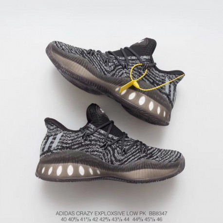 Bb8347 hard goods recommend this pair of crazy explosive low with a softer and more breathable primeknit flyknit upper