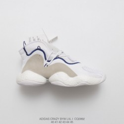 Adidas-Crazy-Byw-Level-1-Boost-Sneaker-CQ0992-Adidas-Originals-Crazy-BYW-Boost-CQ0992-Whole-white-Feet-You-Wear-boost-The-same