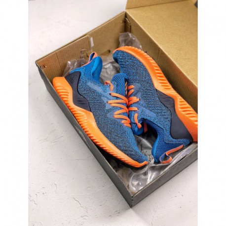 b370e7486280a New Sale Adidas alphabounce hpc ams alpha three generations of blue orange  colorway bouncetm midsole and forged mesh