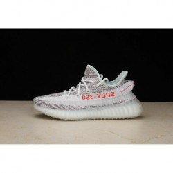 Original Adidas Yeezy Boost 350 V2 White Ice Blue Zebra Pattern UNISEX B37571 9