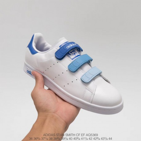 sports shoes 254ac 06170 Adidas Skateboarding Shoes Blue,AQ5369 Upper Adidas Smith Velcro Gradient  Blue Adidas Stan Smith CF EF Upper Velcro
