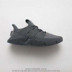 Adidas-Prophere-Grey-Solar-Red-AC8703-FSR-adidas-Originals-Prophere-Hedgehog-Sets-Flyknit-All-match-Jogging-Shoes-Concrete-Grey