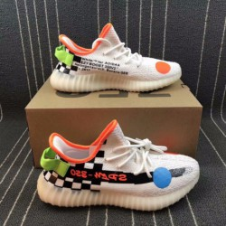 Premium Ultra Boost Adidas Yeezy 350V2 Boost X OFF WHITE Crossover Yeezy 350 Ultra Boost Trainers Shoes