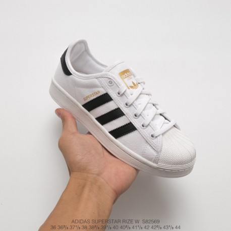 S82569 Original Adidas Superstar Nylon Cloth Soft Shell Head Duck Shoes White Black Stan Smith UNISEX