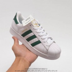 Adidas-Superstar-White-And-Green-Adidas-Superstar-Womens-White-And-Green-BB9212-official-website-synchronous-autumn-and-winter
