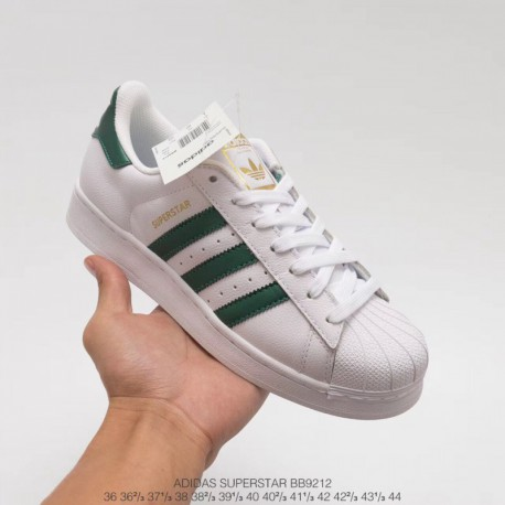 Bb9212 Official Website Synchronous Autumn And Winter Deadstock Colorway Original Adidas Superstar White Green Full Head Into L