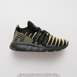 D97057 Debut Deadstock UNISEX 8th Dragon Ball X Adidas EQT Support Mid Adidas V Shenron Black Gold