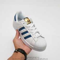 Adidas-Superstar-Mens-White-Blue-Adidas-Superstar-2-Blue-White-B27141-Upper-Adidas-Shell-Head-White-Blue-Stan-Smith-Classic-Loo