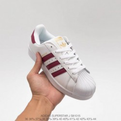 Adidas-Superstar-2-Red-White-Adidas-Superstar-White-Green-Red-S81015-Upper-Adidas-Shell-Head-White-Purplish-Red-Classic-Look