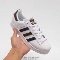 Bb2248 upper adidas shell head black and white brown classic look