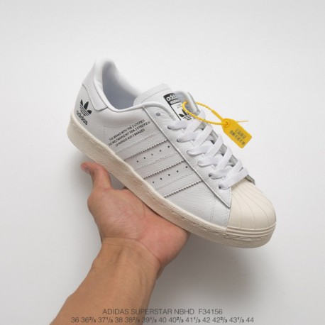 F34156 FSR Military Brand NEIGHBORHOOD X Adidas Originals Superstar Classic Shellfish Skate Shoes