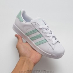 Adidas-Superstar-Ii-White-Green-Leather-Trainers-Adidas-Superstar-Snake-Stripe-CG5461-UNISEX-Leather-Upper-FSR-Adidas-superstar