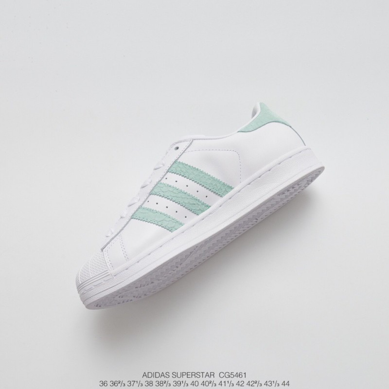 various colors 868d3 88388 Adidas Superstar Ii White Green Leather Trainers,Adidas ...