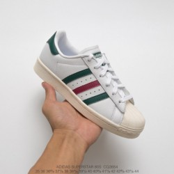 Adidas-Originals-Superstar-80s-Shoes-Adidas-Superstar-80s-White-Red-CQ2654-Top-Grain-leather-Premium-FSR-adidas-Originals-Super