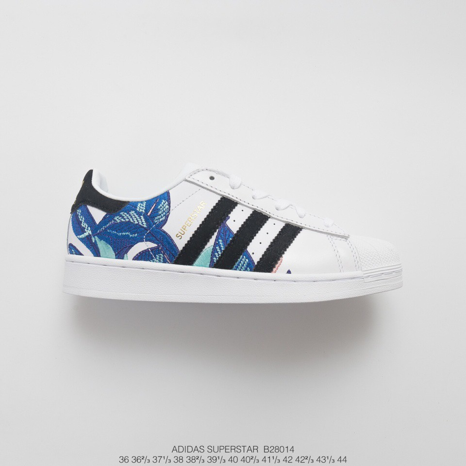 Basket Adidas Superstar Bleu Rose Flower Adidas Superstar
