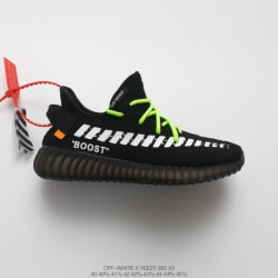 Adidas-Yeezy-350-V2-Triple-Black-Ultra-Boost-Mens-Virgil-Abloh-Designer-Independence-Bespoke-OFF-white-x-Adidas-Yeezy-350V2-Boo