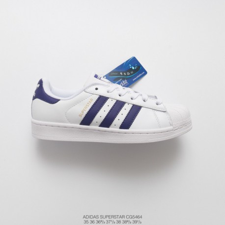 Cg5464 FSR Womens Adidas Superstar Shell Head Classic Skate Shoes White Deep Royal Purple