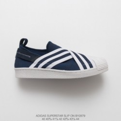 By2879 FSR Adidas Originals Superstar Slip-On breathable strap slip-Ons/Loafers shell head skate shoes