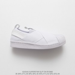 By2885 FSR Adidas Originals Superstar Slip-On breathable strap slip-Ons/Loafers shell head skate shoes