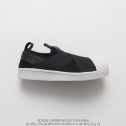 By2884 FSR Adidas Originals Superstar Slip-On breathable strap slip-Ons/Loafers shell head skate shoes