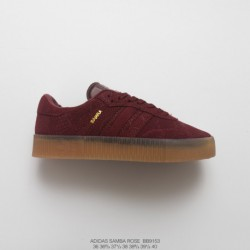 Bb9153 FSR Womens Adidas Originals Samba Rose W Samba Collection Muffin All-Match classic skate shoes