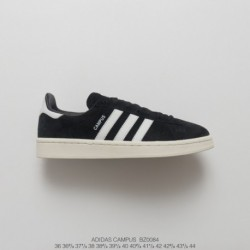 Bz0084 FSR Adidas Originals Campus 80s Campus All-match Skate Shoes OG Black And White