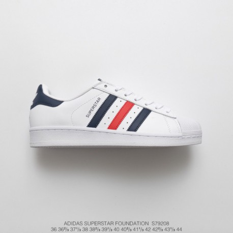 S79208 soft foundation adidas superstar shell head classic skate shoes white navy red
