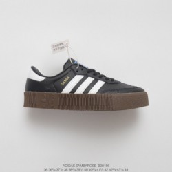 B28156 FSR UNISEX Adidas Originals Samba Rose W Samba Collection Muffin All-Match classic skate shoes black and white autumn mi