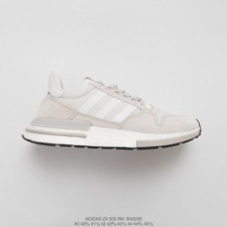 B42226 Mens Ultra Boost Deadstock Adidas ZX500 Rm Boost OG ZX500 Ultra Boost All-match Vintage Jogging Shoes Light Grey White