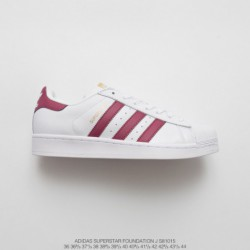 S81015 FSR UNISEX Adidas Superstar Shell Head Classic Skate Shoes White Rose Red