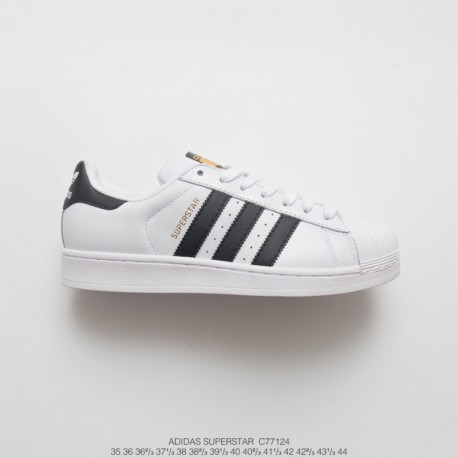 C77124 FSR UNISEX Adidas Originals Superstar II Shell-Heart classic all-match Vintage Skate Shoes White-Stan smith