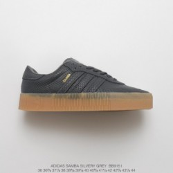 Bb9151 adidas samba muffin thick foundation skate board shoes leisure college wind