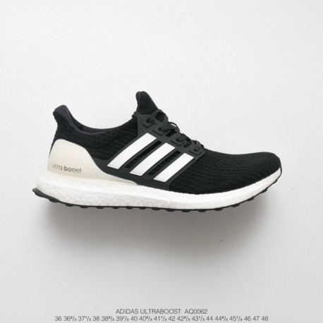 Aq0062 UNISEX Ultra Boost Adidas Ultra Boost 4.0 Ultra Boost Material Jogging Shoes Collection Black Off-White