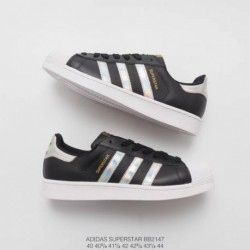 Adidas-Superstar-Shell-Toe-Trainers-In-White-And-Black-Adidas-Superstar-Black-And-White-Cheap-BB2147-Upper-Adidas-Shell-Head-Bl