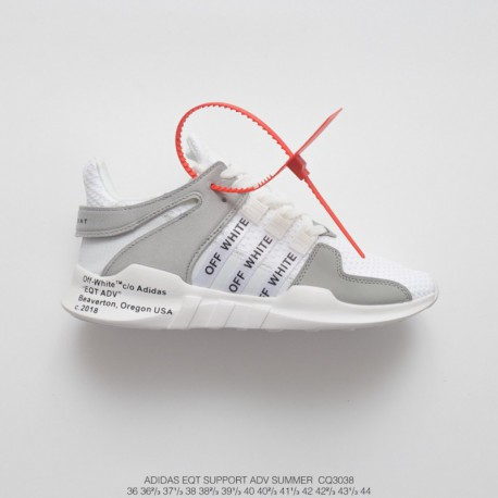 Cq3038 FSR UNISEX Off-white X Adidas EQT Support Adidas V Summer Knitting Collection All-Match shoes pale grey black
