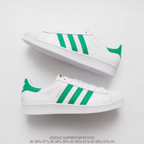 sale retailer 170f7 657ab New Sale BY3722 The Strongest Adidassuperstar White Green Stan Smith