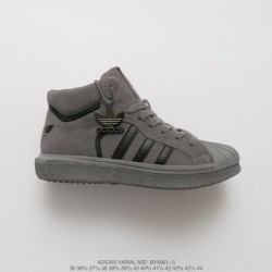 By4061-3 FSR UNISEX Adidas VARIAL MID High Suede Face Casual Skate Shoes