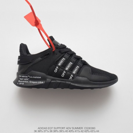 Cq3039 FSR UNISEX Off-white X Adidas EQT Support Adidas V Summer Knitting Collection All-Match shoes whole black white