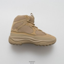 Deadstock starting mens yeezy season 6 desert rat boot graphite black military wind deadstock yeezy season kanye west try on th