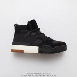 Cm7823 Original Premium Adidas X Alexander Wang Crossover Alexander King High Black And White Sneaker