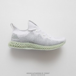 Cg5527 Adidas Alphaedge 4D Print Boost White Warrior Join Shoes Seat And Tongue Face 3D Underply Visible Outside The Effect Is