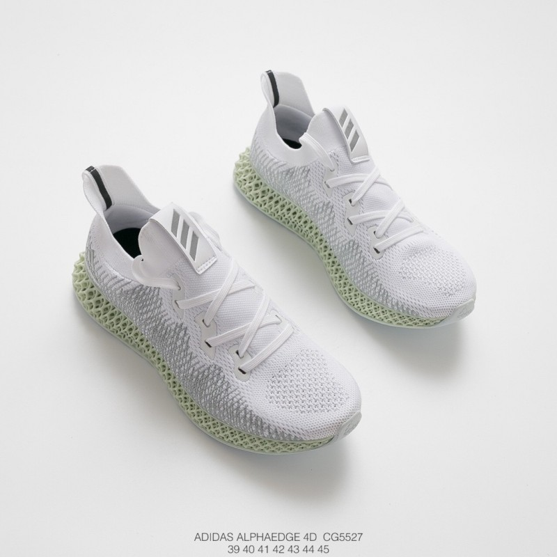355bff3e30169 ... Cg5527 Adidas Alphaedge 4D Print Boost White Warrior Join Shoes Seat  And Tongue Face 3D Underply ...