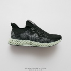 Cg5526 Adidas Alphaedge 4D Print Boost White Samurai Join Shoes Seat And Tongue Face 3D Underply Visible Outside The Effect Is