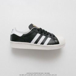 G61069 FSR Thin Tongue UNISEX Adidas Originals Superstar 80s Shellfish Classic All-match Vintage Skate Shoes Black And White St