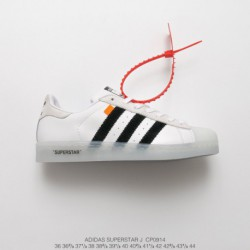 Cp0914 Original Box Upper Adidas Superstar X OFF WHITE Shell Head Crossover White Black