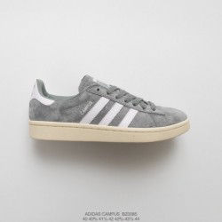 Bz0085 mens adidas originals campus 80s campus all-match Skate Shoes OG Gray Off-White